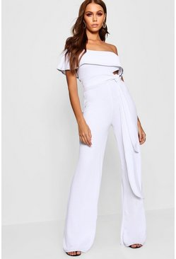 Womens White Contrast Stitch Co-Ord