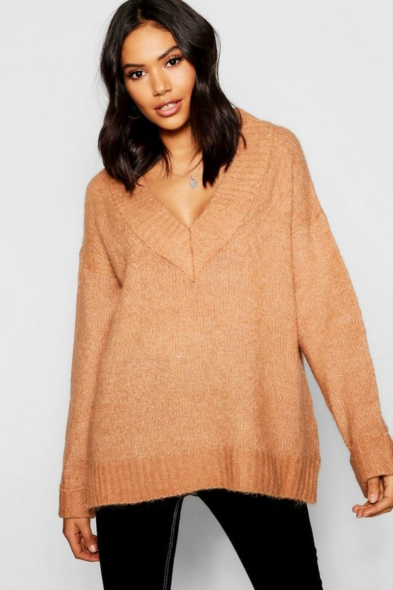 Loose Fit V-Neck Jumper