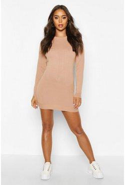 Blush Crew Neck Long Sleeve Dress