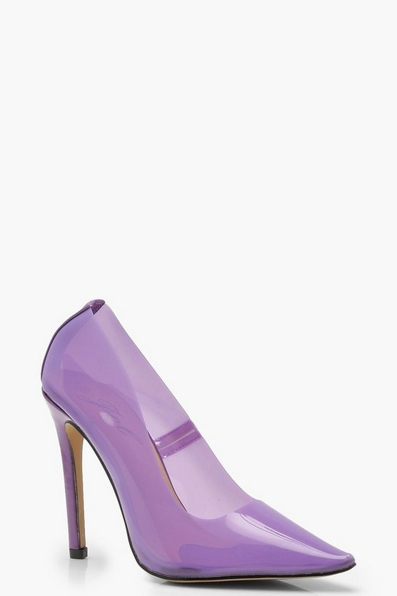 Womens Lilac Clear Court Shoes