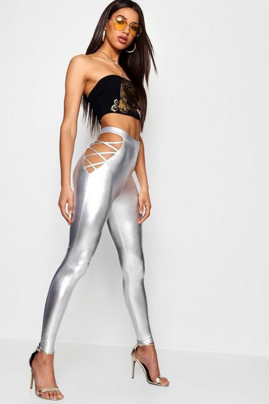 Mirror Foil Cage Side Leggings