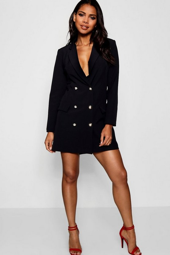 Longline Gold Button Blazer