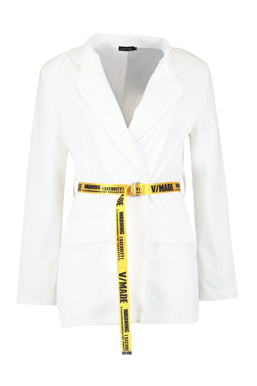 cinturón blanco Blazer Blazer con con cinturón y fw6Yf
