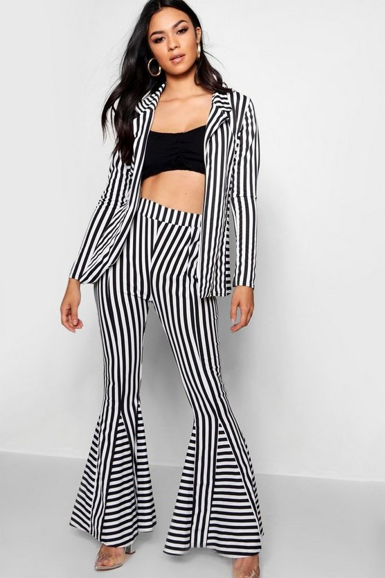 Stripe Flare Trouser