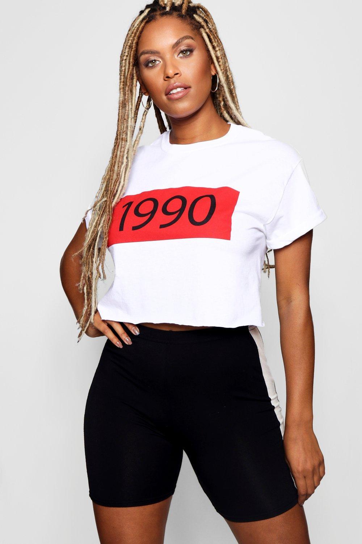 Image of %brand% 1990 Slogan Crop Top