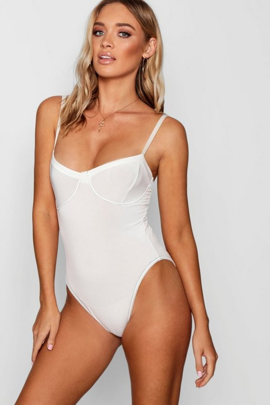 Contrast Stitch Detail Bodysuit