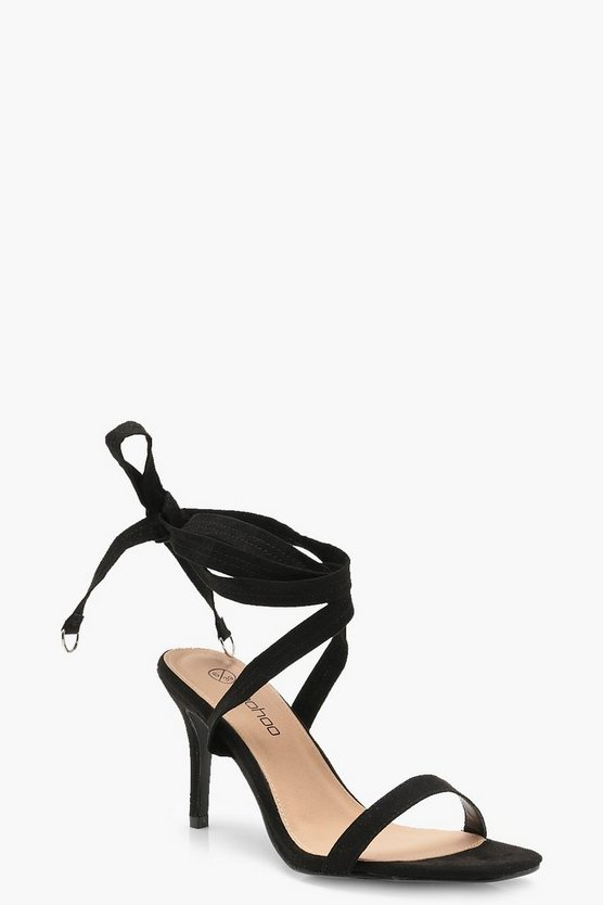 Extra Wide Fit Wrap Strap Two Part Heels