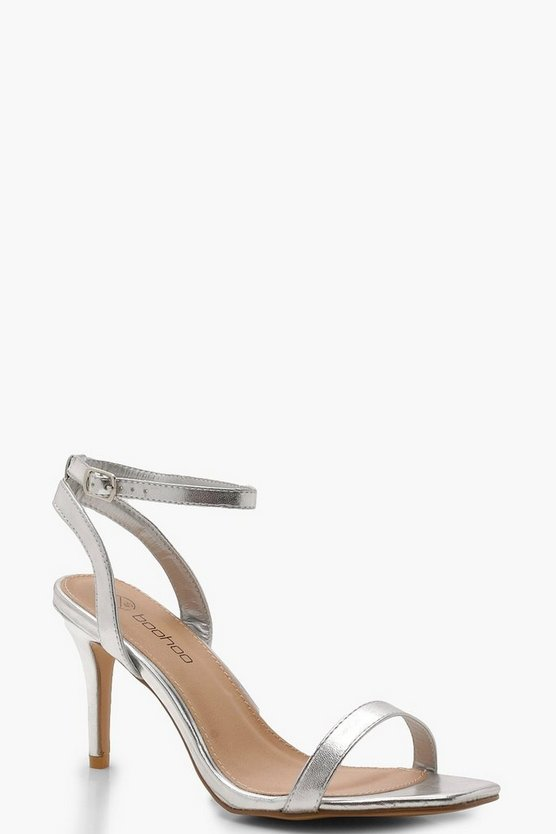 Extra Wide Fit Square Toe Two Part Heels