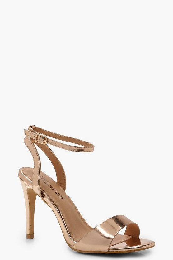Rose gold Extra Wide Fit 2 Part Heels