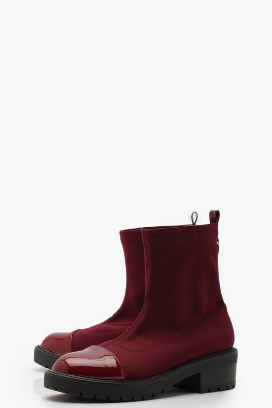 Cleated Chunky Sock Boots