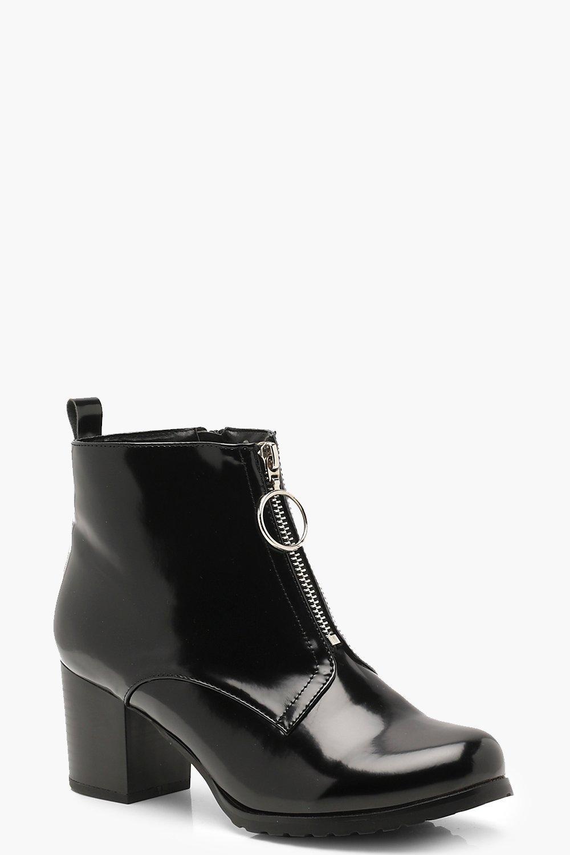 new styles 6c420 fd6cf Robuste Stiefeletten mit Reißverschluss vorne | Boohoo