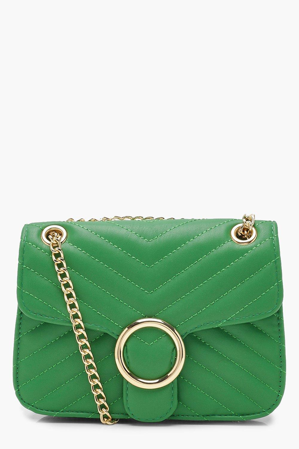 NEW-Boohoo-Womens-Quilt-amp-Ring-Detail-Cross-Body-in