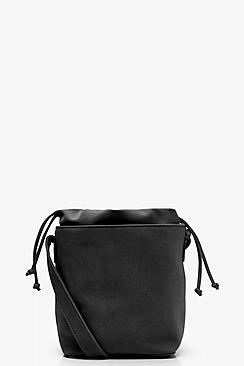 Jo Suedette Structured Round Base Cross Body