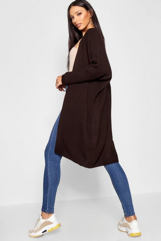 Cocoon Oversized Rib Knit Cardigan