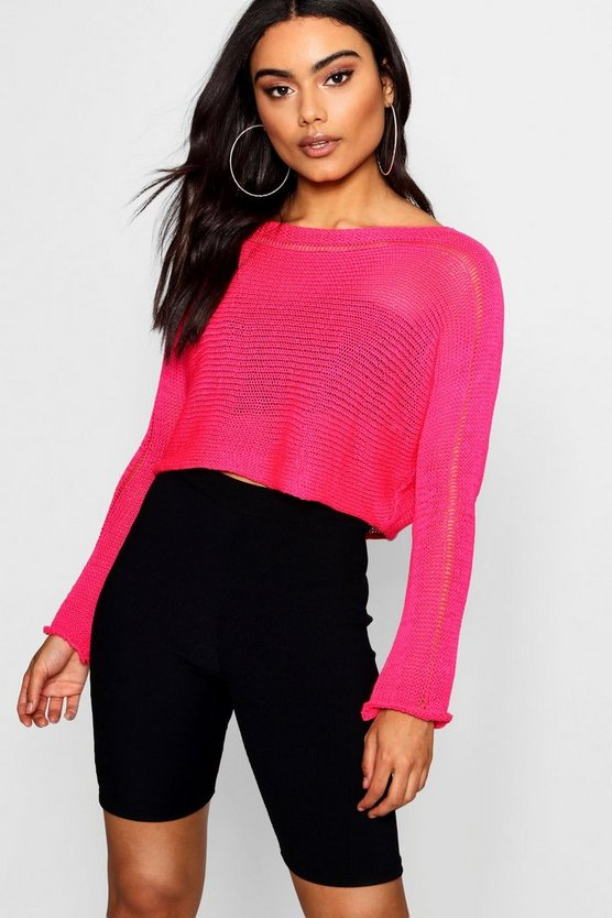 Neon Knitted Crop