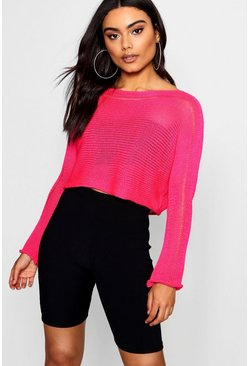 Neon Knitted Crop, Neon-pink, ЖЕНСКОЕ