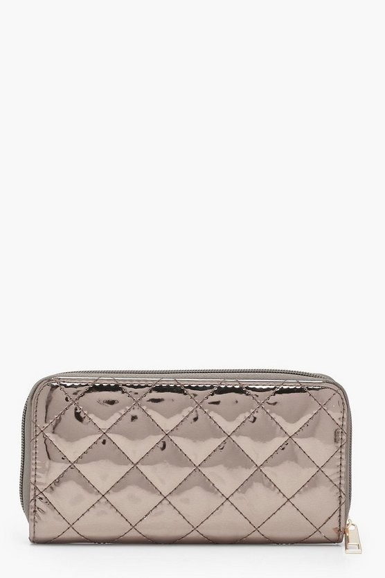 Ally Quilted Ziparound Purse