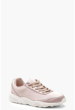 Womens Blush Chunky Sole Sneakers