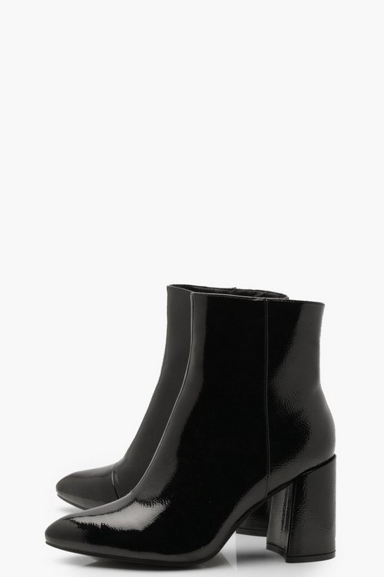 Block Heel Pointed Shoe Boots