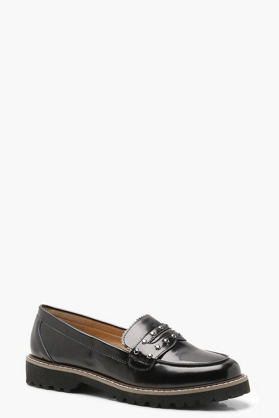 Daisy Cleated Chunky Sole Stud Loafers