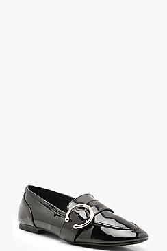Buckle Trim Loafers