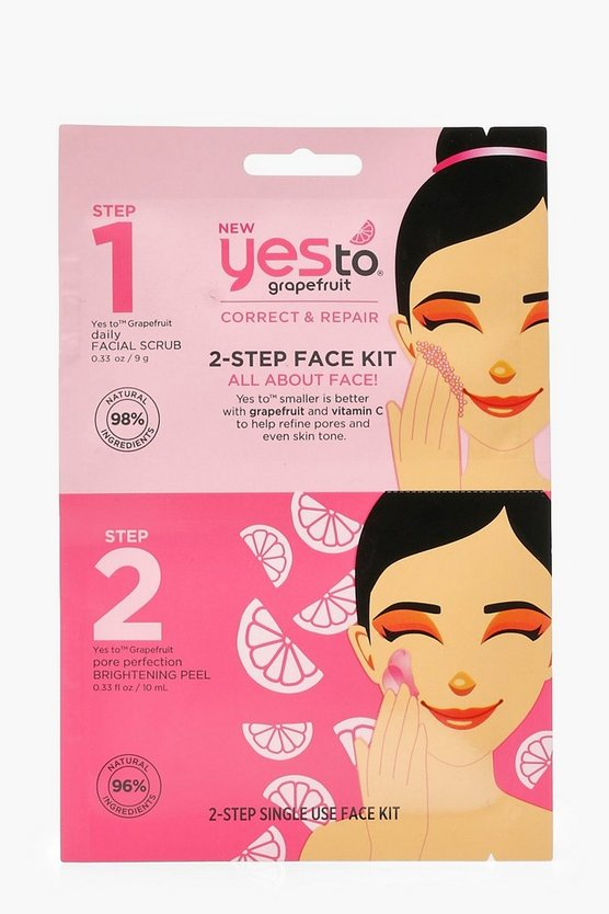 Yes To Grapefruit  Face Scrub Kit