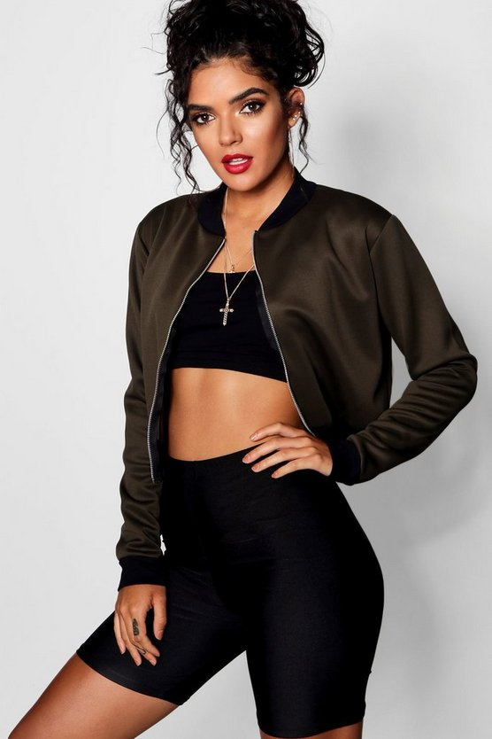 Crop Bomber Jacket