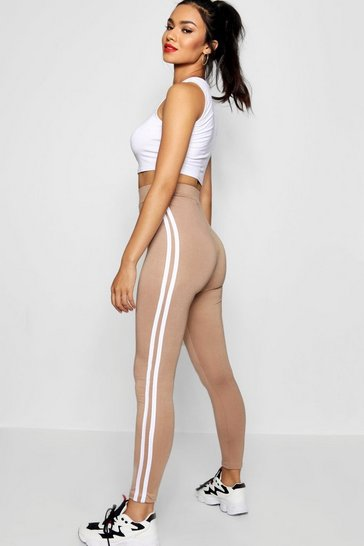 Camel Basic Sports Stripe Legging
