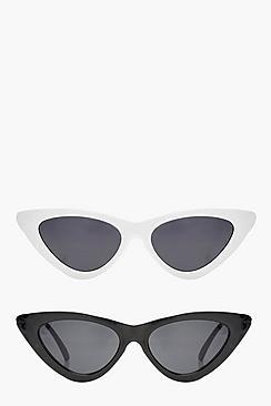 Unique Retro Vintage Style Sunglasses & Eyeglasses Jessica 2 Pack Skinny Cat Eye Fashion Glasses $20.00 AT vintagedancer.com