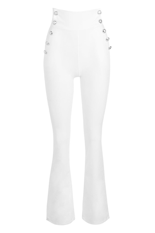 Pantalones con cintura muy alta blanco qSPUqA