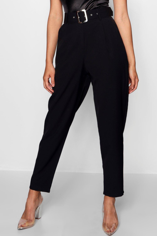 pinza Pantalones con negro y pantalones cinturón de 7xwpzXqFA