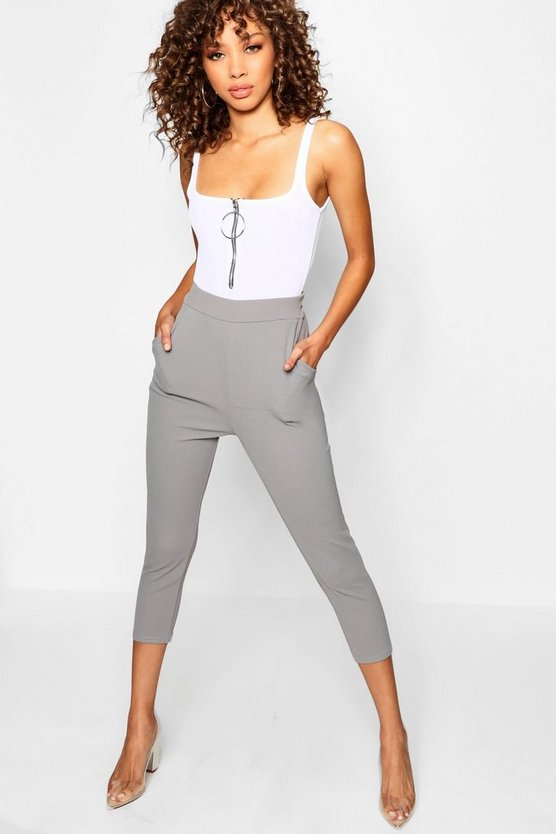 Leah Crepe Super Skinny Pocket Cropped Trouser