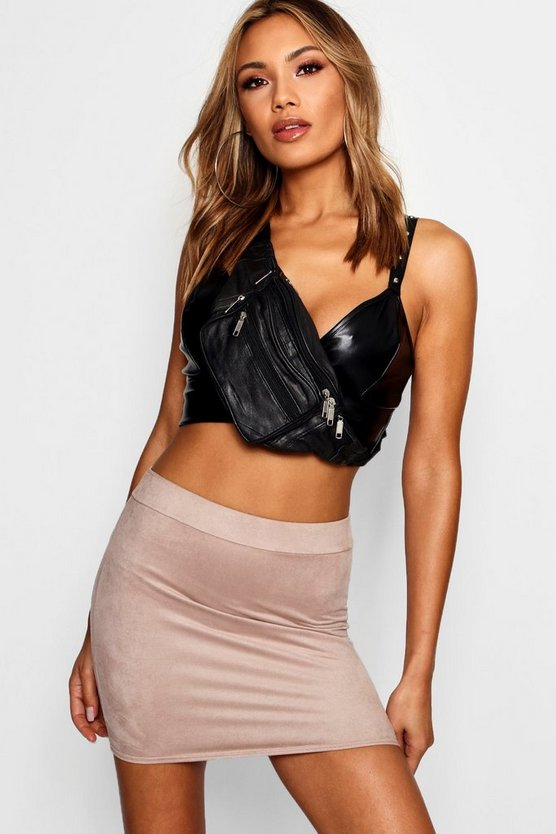 Suedette Micro Mini Skirt