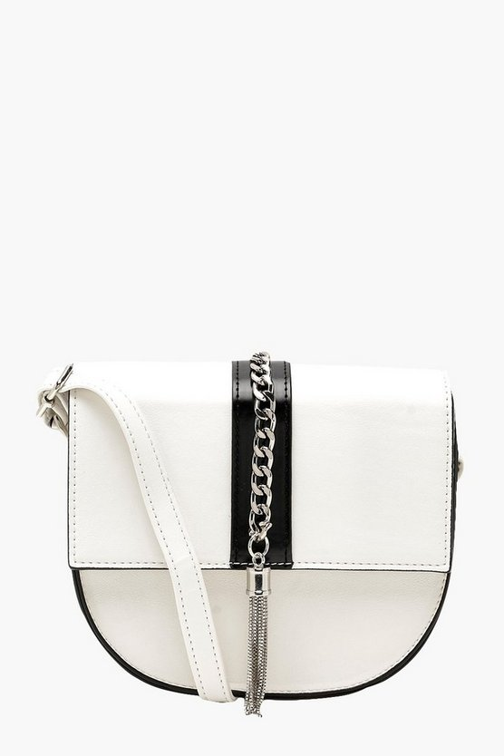 Chunky Chain Tassel Detail Cross Body