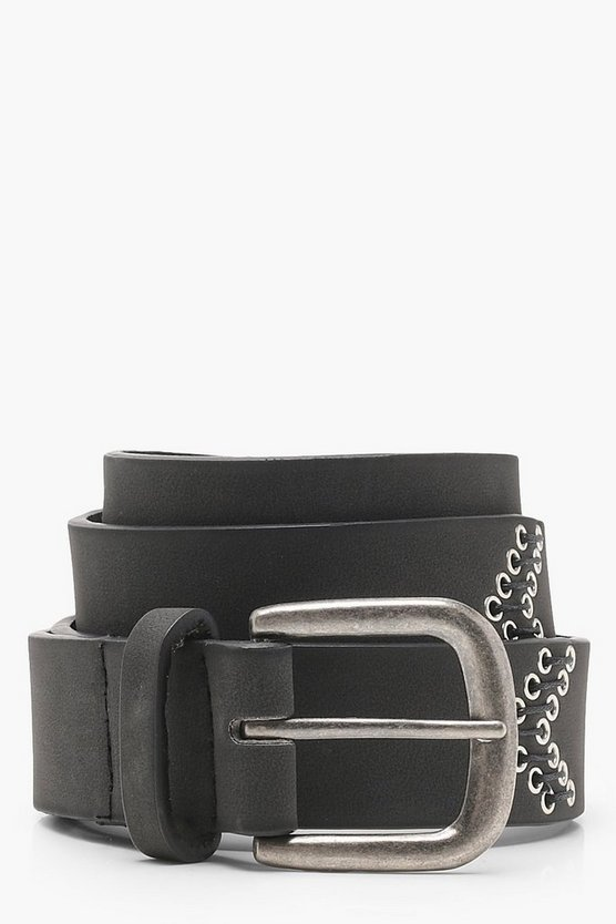 Eyelet And Stitch Boyfriend Belt