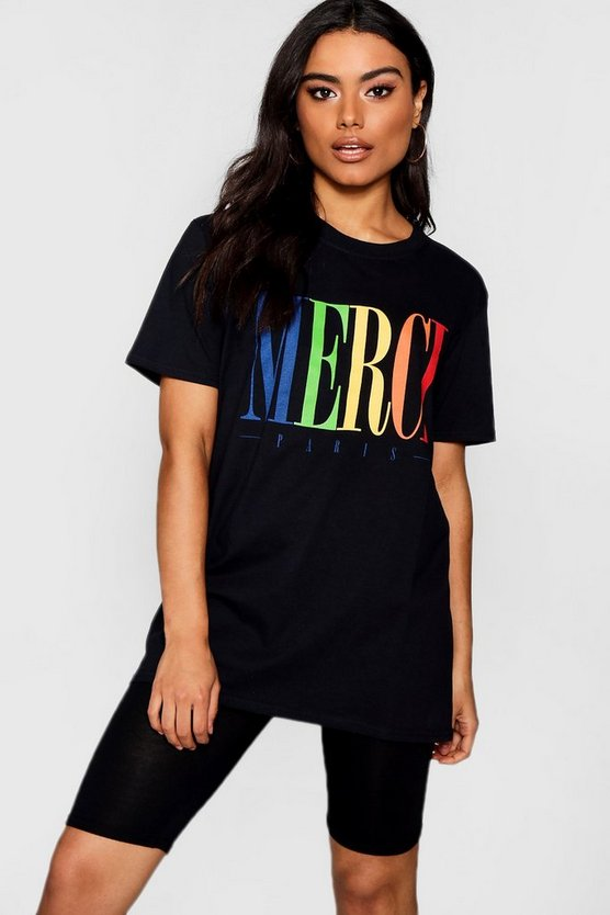 Merci Graphic Tee Cycle Short Co-ord Set