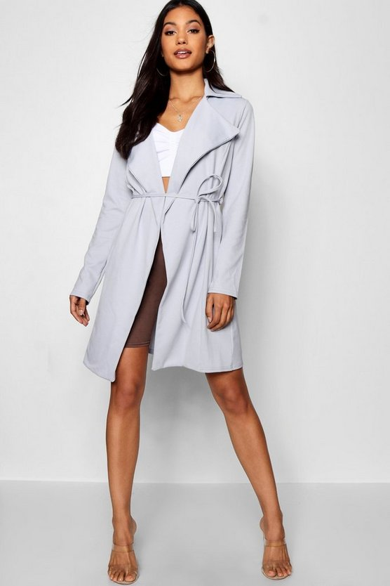 Collared Belted Duster Jacket