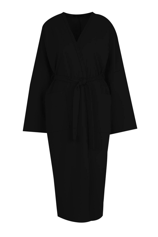 Kimono ancho Kimono con ancho cinturón negro negro con negro cinturón ancho con cinturón Kimono vnfvBqF