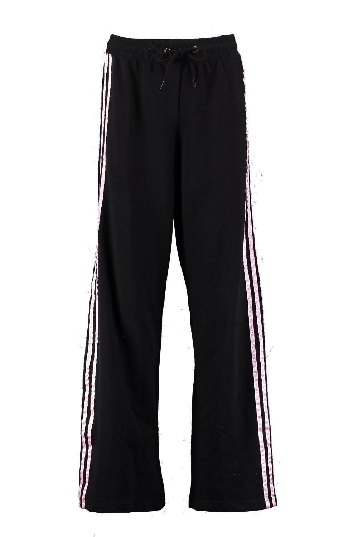 NEW-Boohoo-Womens-Satin-Sports-Stripe-Sweat-Pants-in-Elastane