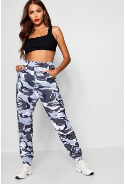 Womens Grey Camo Sweat Jogger