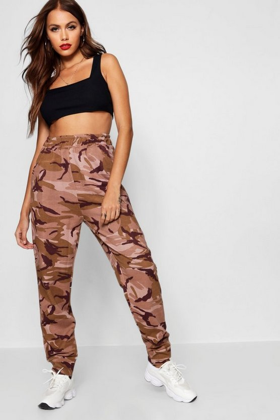 Womens Sand Camo Sweat Jogger