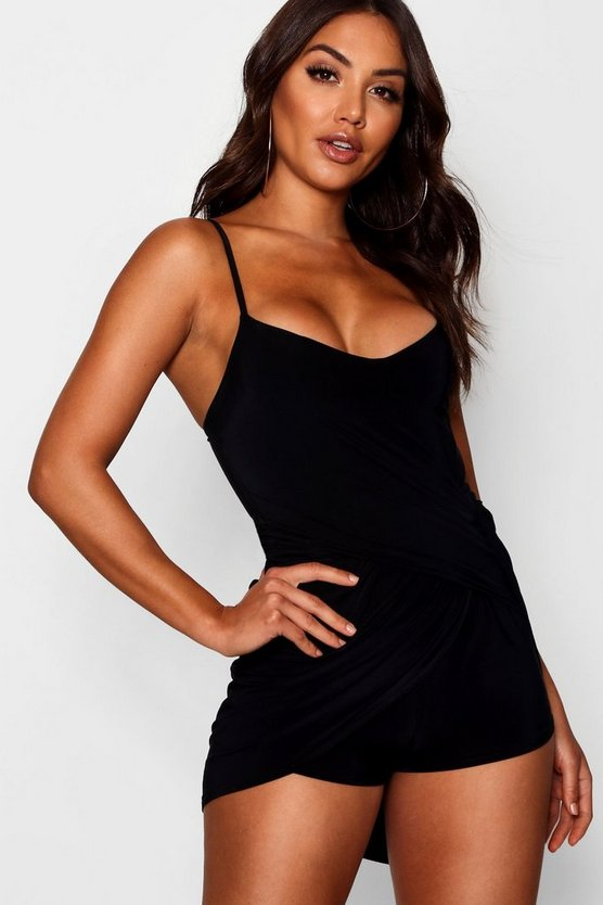 Drape Twist Front Playsuit