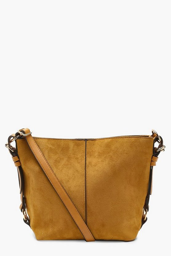 Maisie Suedette Metal Detail Cross Body Bag