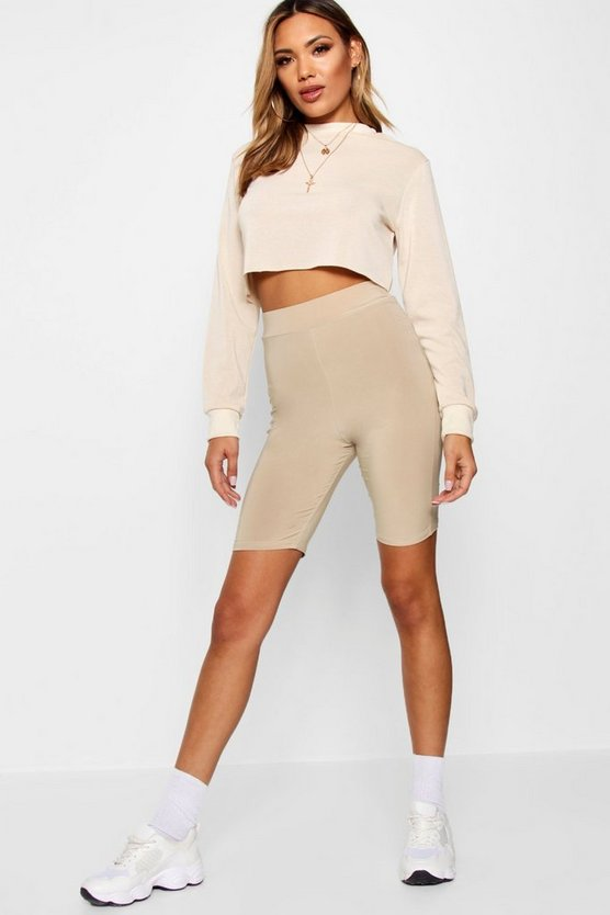Crop Sweatshirt Cycle Short Co-ord Set