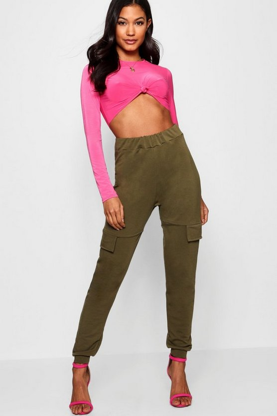 Knot Crop Top Cargo Jogger Co-ord Set