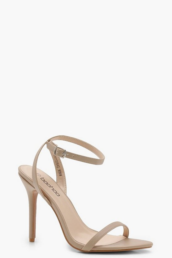 Womens Nude Pointed Toe Barely There Heels