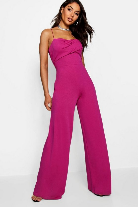 c6b5082c656 Square Neck Wide Leg Jumpsuit by Boohoo
