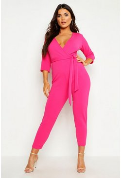 Hot pink Wrap Jumpsuit