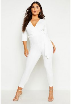 Ivory Wrap Jumpsuit