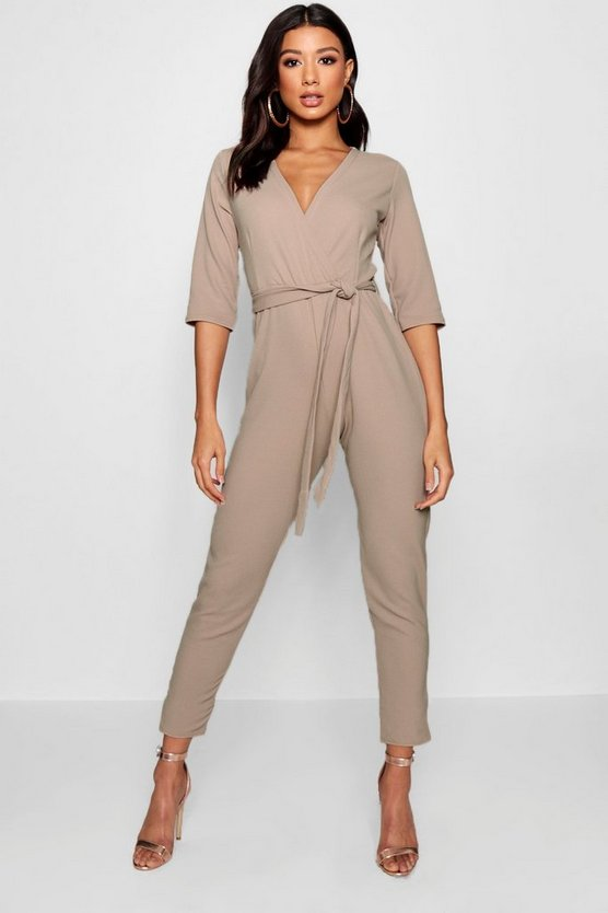 Womens Stone Wrap Jumpsuit